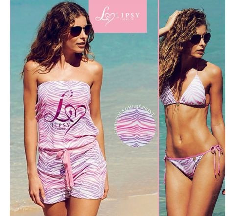 Lipsy London Ombre Playsuit and Matching Bikini - UK 16/18