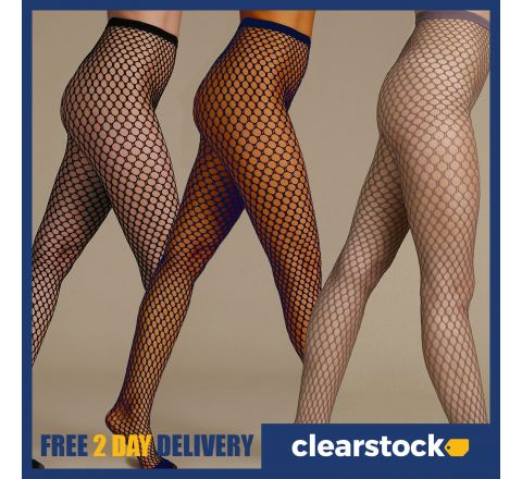 M&S Fishnet Tights available in Black, Navy and Taupe
