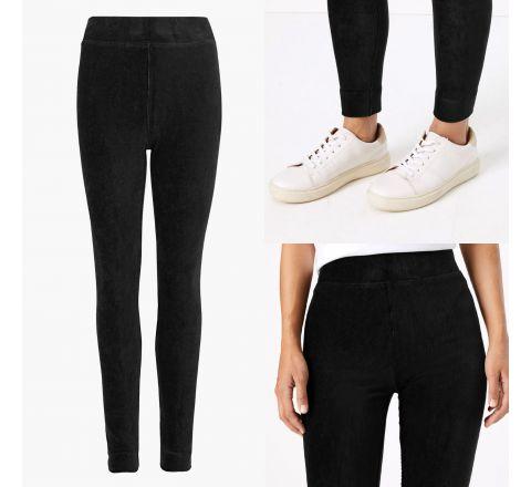 M&S Corduroy High Waisted Leggings - Black