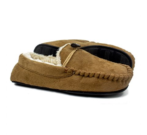 Men's Mocassin Slipper - Tan