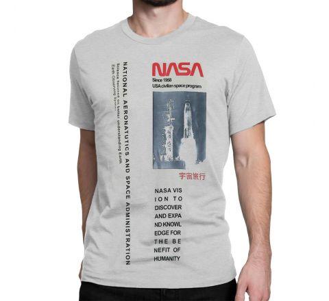 Men's NASA Longline Photo T Shirt