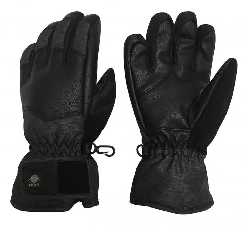 Thinsulate and Waterproof Cold Weather Ski Glove with Ridges S/M