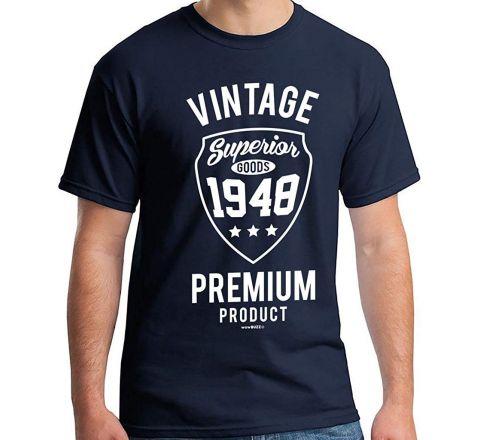 Vintage 1948 T-Shirt Navy Blue