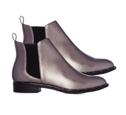 Pewter Studded Chelsea Boot
