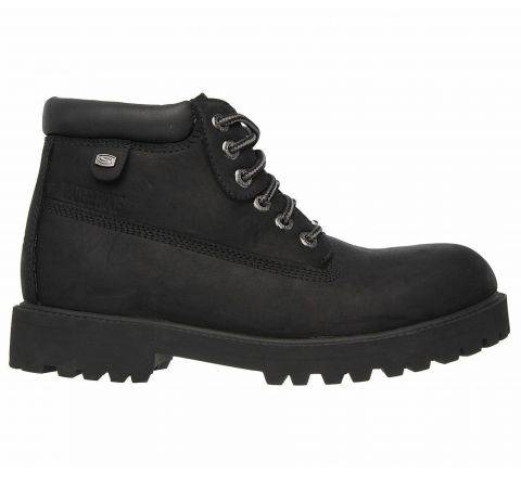 Skechers Sergeants-Verdict Mens Waterproof Lace up Classic Work Style Boots - Black, Size 7