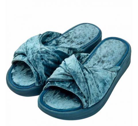 Avon Cross Band Velvet Mule Slippers