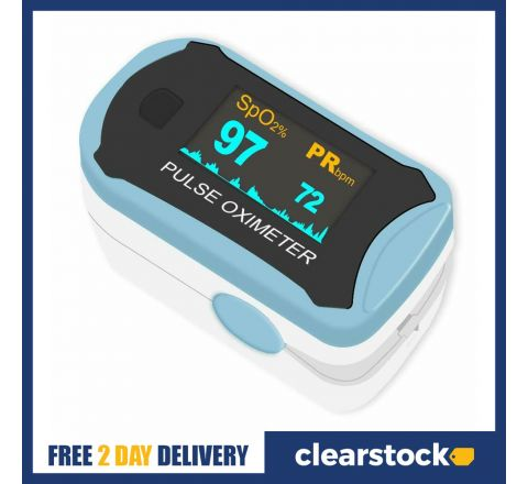 Easy at Home Fingertip Pulse Oximeter with OLED Display