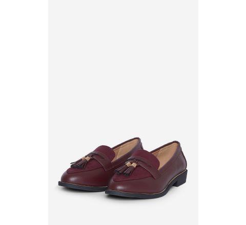 Ex Store Wide Fit Oxblood Landmark Loafer Shoe