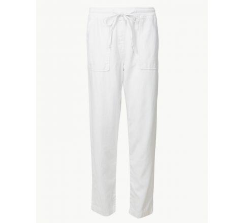 M&S Linen Rich Peg Trousers