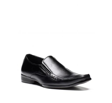 Sevva Boys' Smart Black Formal Shoe