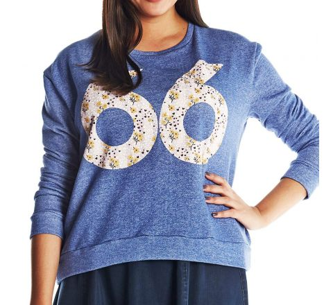Simply Be Contrast Number Print Jumper