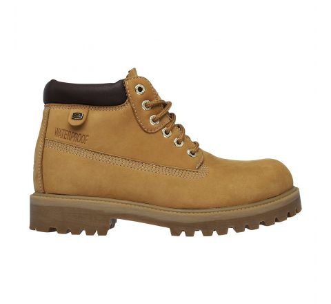 Skechers Sergeants-Verdict Mens Waterproof Lace up Classic Work Style Boots - Dessert