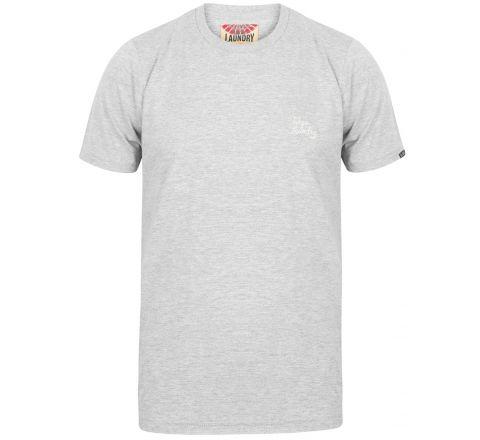 Tokyo Laundry Montecarlo Crew Neck Cotton T-Shirt - Light Grey Marl