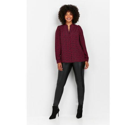 Wallis Black Faux Leather Front Leggings - Petite