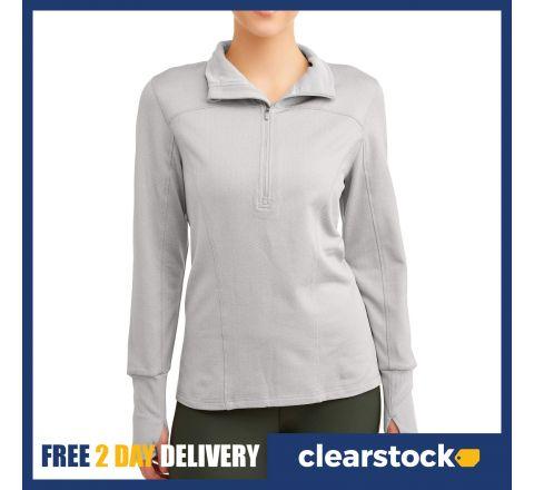 Athletic Works Women's Brushed Quarter Zip Pullover