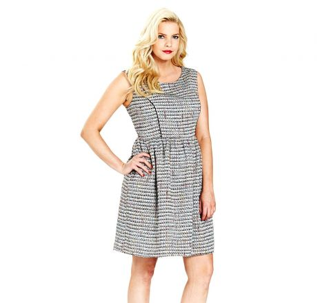 Simply Be Boucle Skater Dress