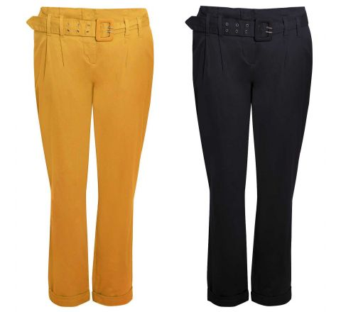 Yessica Belted Chinos