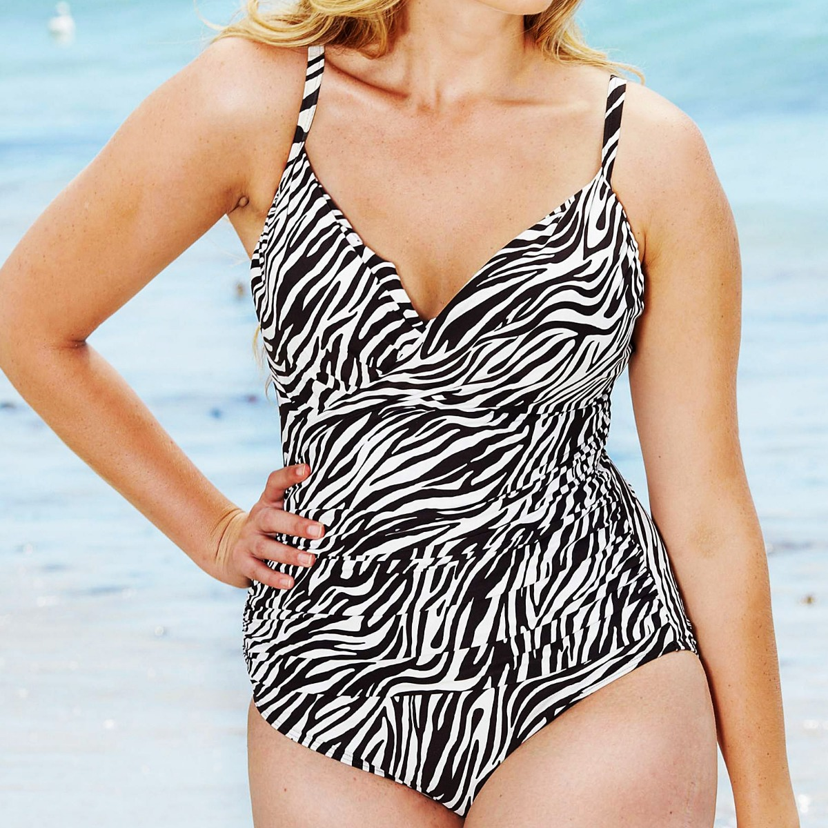 79b5bd1a53 ... Womens swimming costume one piece swimsuit with animal print available  in uk size 16