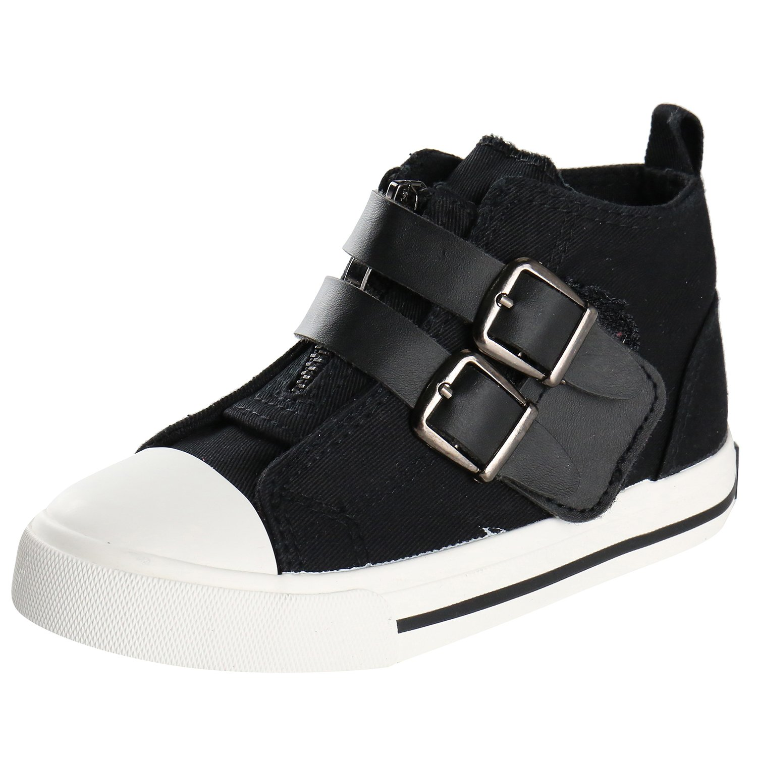 Boys Girls Unisex Infant Black Blue High Top Trainers Casual Shoes Size 3 7 8 9