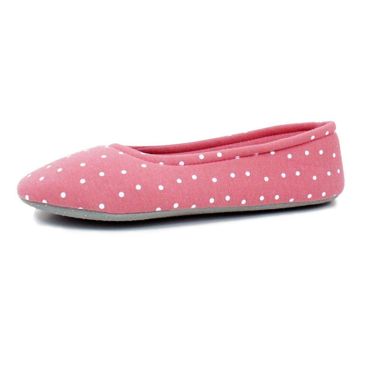 Para-mujer-Resbalon-en-Zapatos-De-Ballet-Ballerina-Tenis-Calcetines-Casa-Para-Damas-Ninas-Talla-4-8 miniatura 18