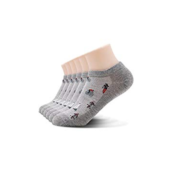 6 PAIRS Ladies Womens Invisible Trainer Ankle Socks Sports Low Cut No Show 4-7 Damenmode