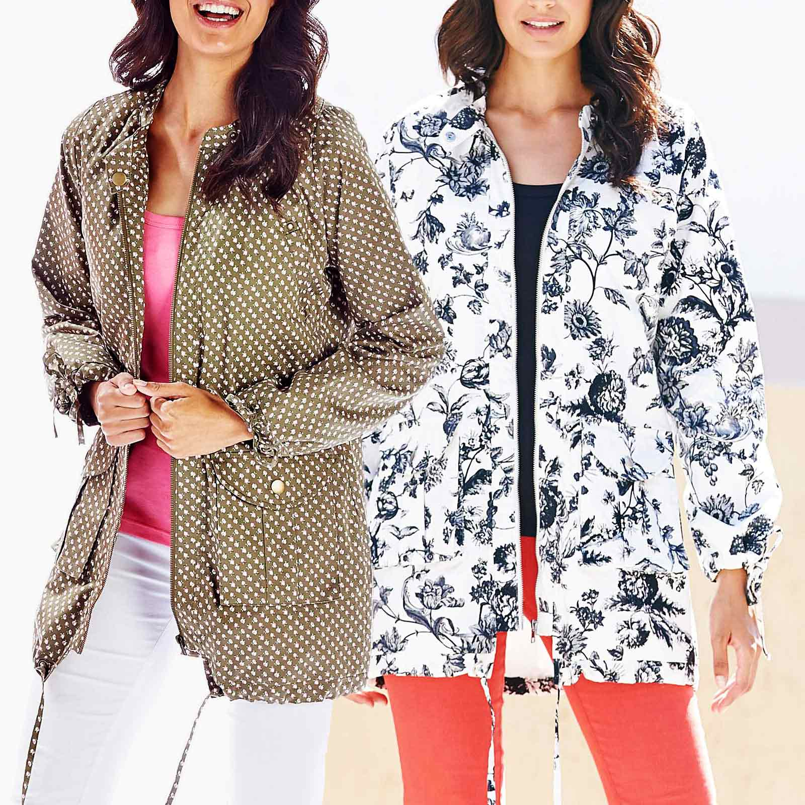 fashion design 2019 factory price select for newest Details about JD Williams Ladies Womens Summer Parka Jacket Rain Coat  Floral Print Pac a Mac