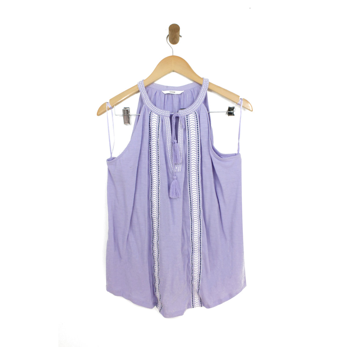 Womens-Casual-Tassel-Sleeveless-Loose-Cami-Vest-Tops-T-Shirt-Blouse-Size-14-22 thumbnail 7