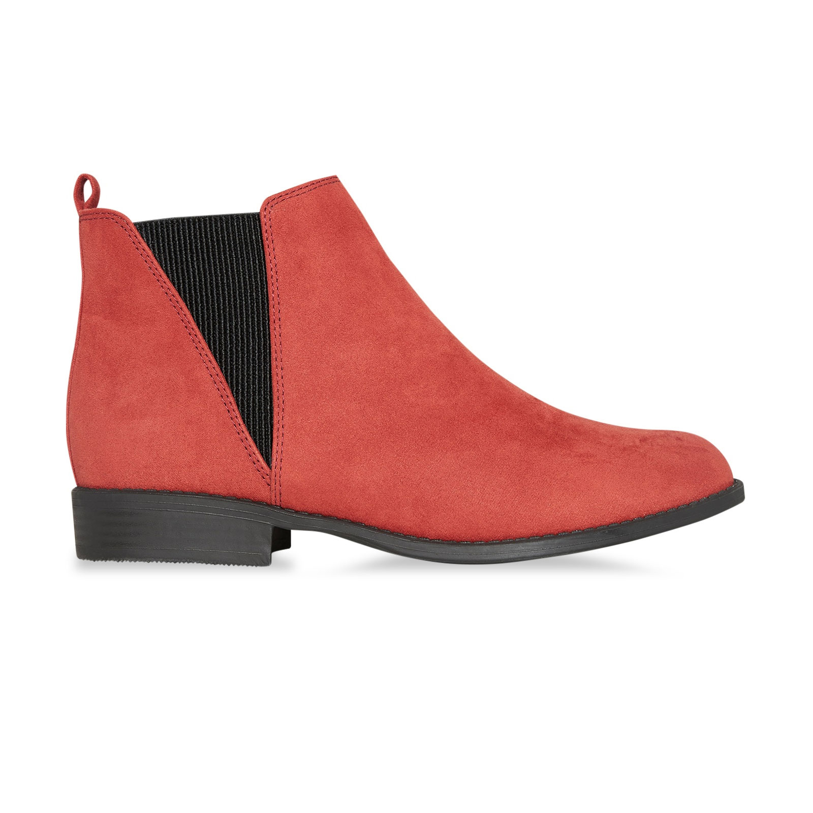 Ladies-Womens-Chelsea-Dealer-Boots-Suede-Ankle-Slip-On-Low-Heel-Shoes-Size-3-8 thumbnail 4