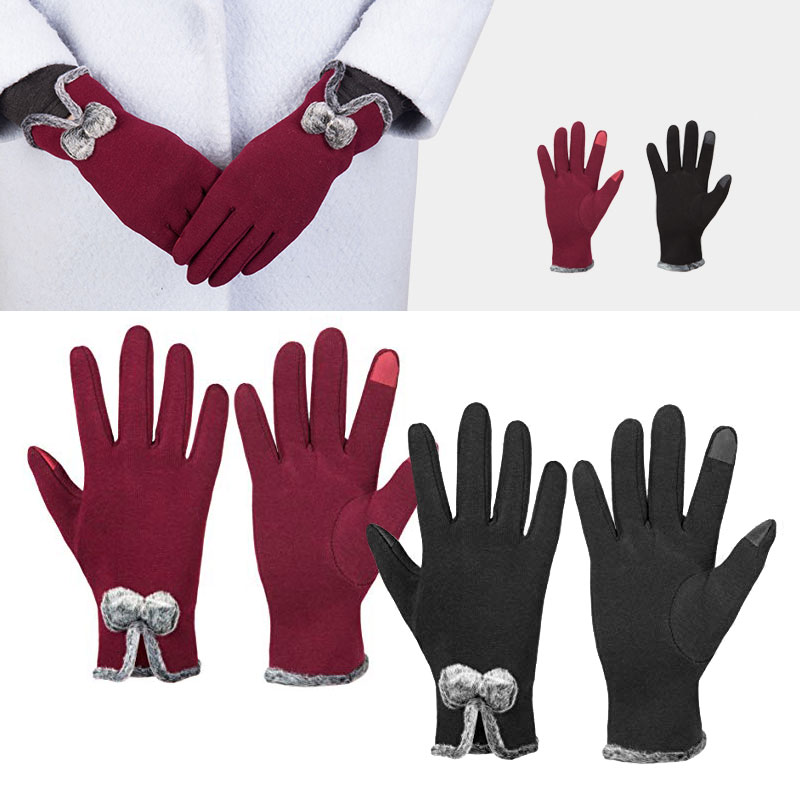 4b998bcce GLOUE Womens Touch Screen Warm Winter Cashmere Gloves Fleece Lined ...