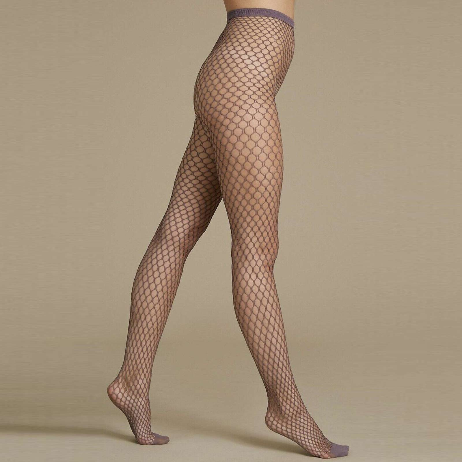 b8ad4342829 M S Black Navy Taupe Large Sexy Fishnet Tights S-XL Plus Size Net ...