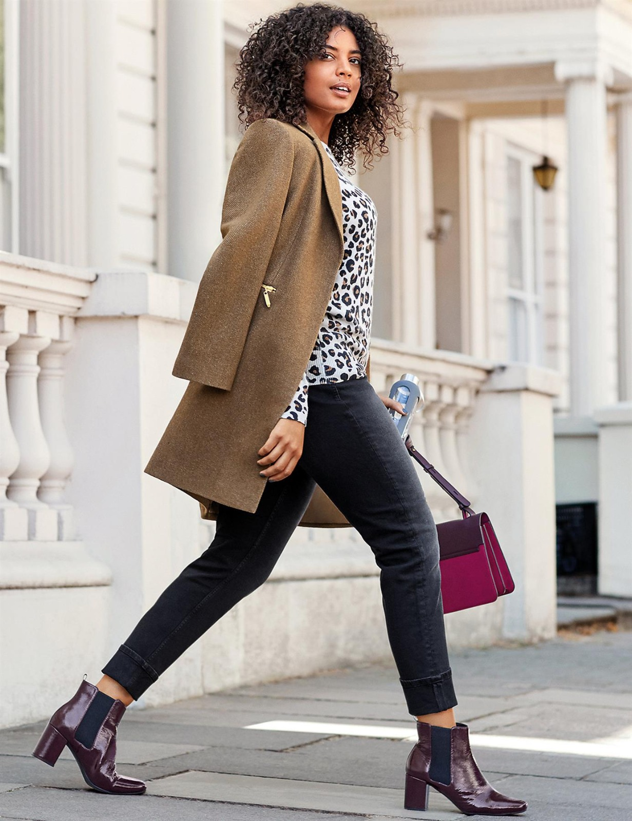 M-amp-S-Wool-Blend-Single-Breasted-Pink-Brown-Winter-Coat-Holly-Willoughby-Size-6-24 thumbnail 17