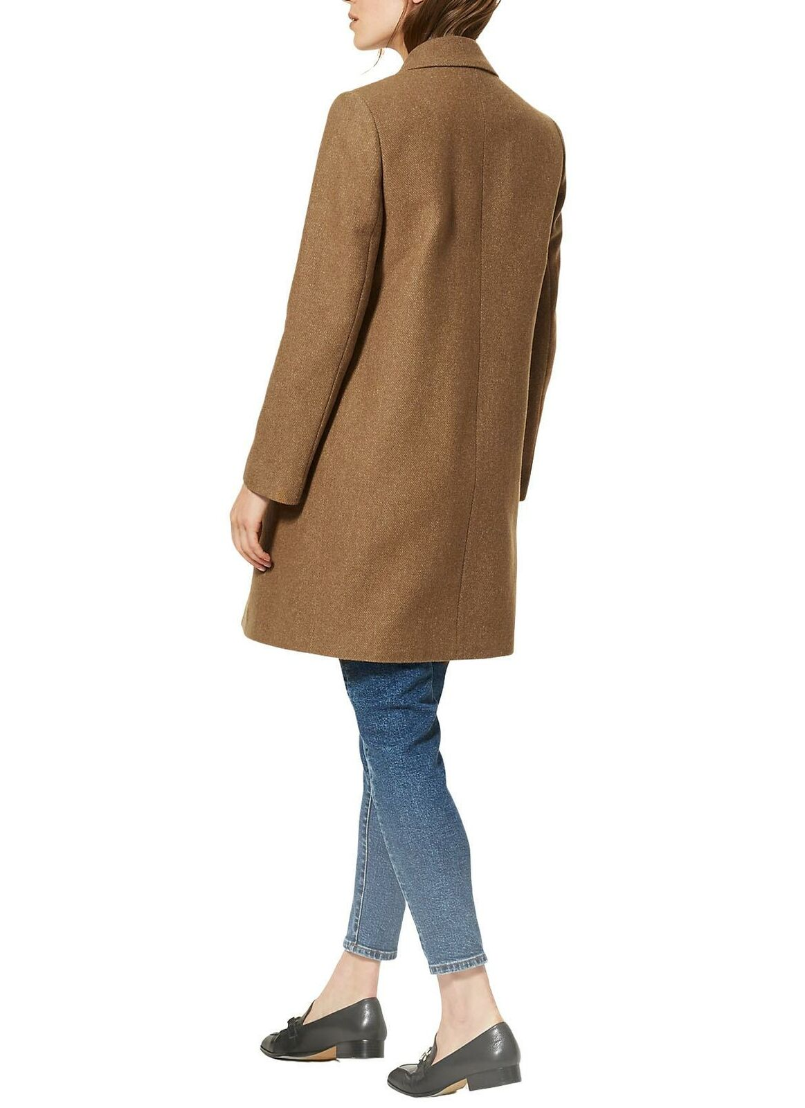 M-amp-S-Wool-Blend-Single-Breasted-Pink-Brown-Winter-Coat-Holly-Willoughby-Size-6-24 thumbnail 14