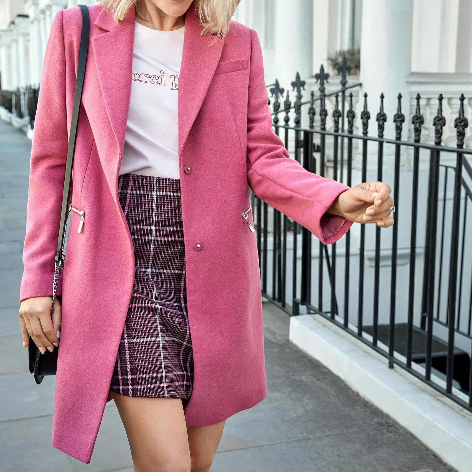 M-amp-S-Wool-Blend-Single-Breasted-Pink-Brown-Winter-Coat-Holly-Willoughby-Size-6-24 thumbnail 45