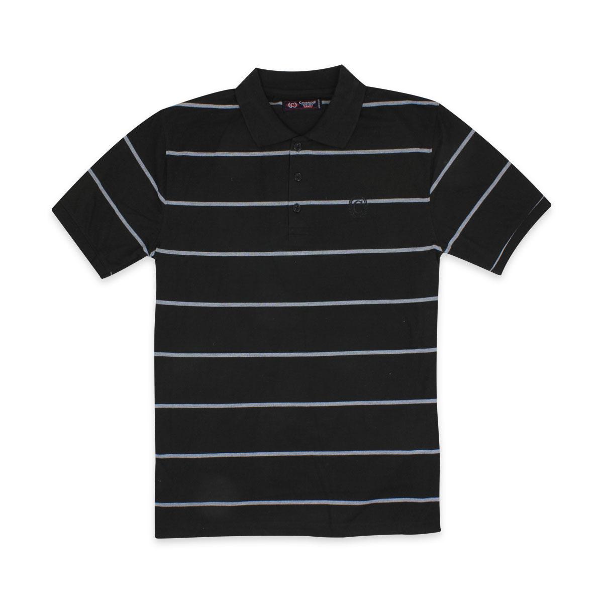 Camisas-Polo-Para-Hombre-A-Rayas-Pique-Con-Cuello-camiseta-Camiseta-Manga-Corta-De-Verano-S-M-L-XL miniatura 37