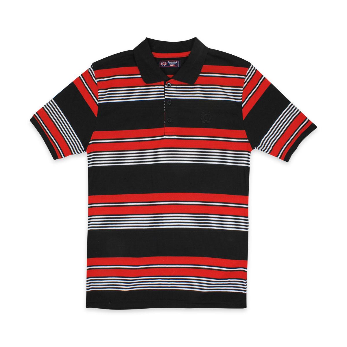 Camisas-Polo-Para-Hombre-A-Rayas-Pique-Con-Cuello-camiseta-Camiseta-Manga-Corta-De-Verano-S-M-L-XL miniatura 47