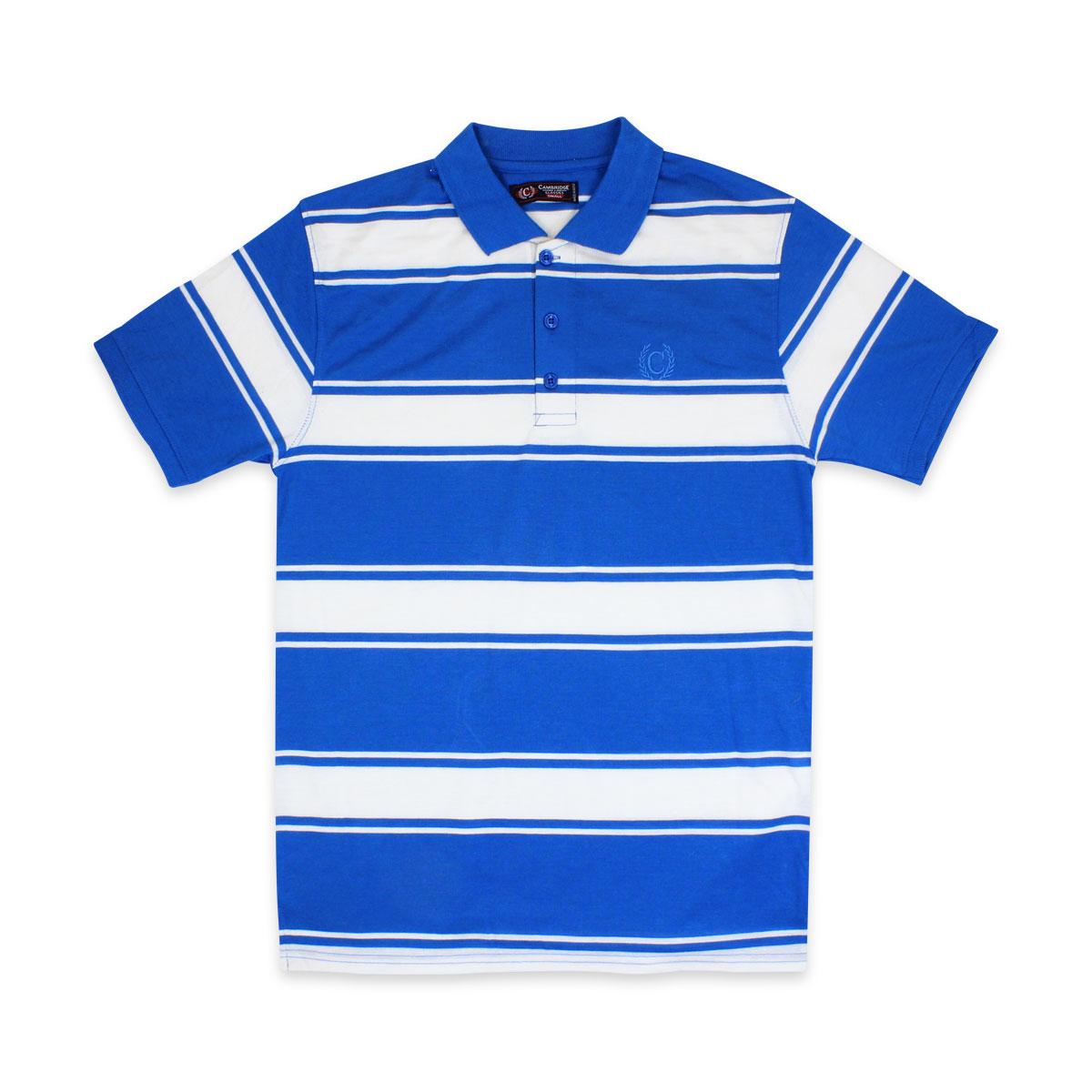 Camisas-Polo-Para-Hombre-A-Rayas-Pique-Con-Cuello-camiseta-Camiseta-Manga-Corta-De-Verano-S-M-L-XL miniatura 16