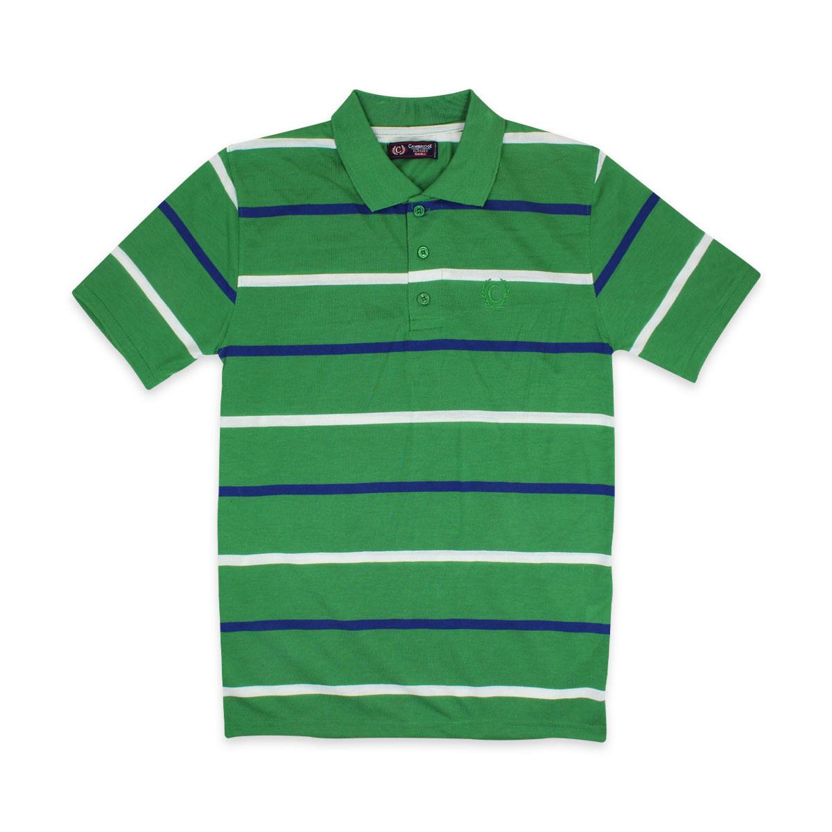 Camisas-Polo-Para-Hombre-A-Rayas-Pique-Con-Cuello-camiseta-Camiseta-Manga-Corta-De-Verano-S-M-L-XL miniatura 20