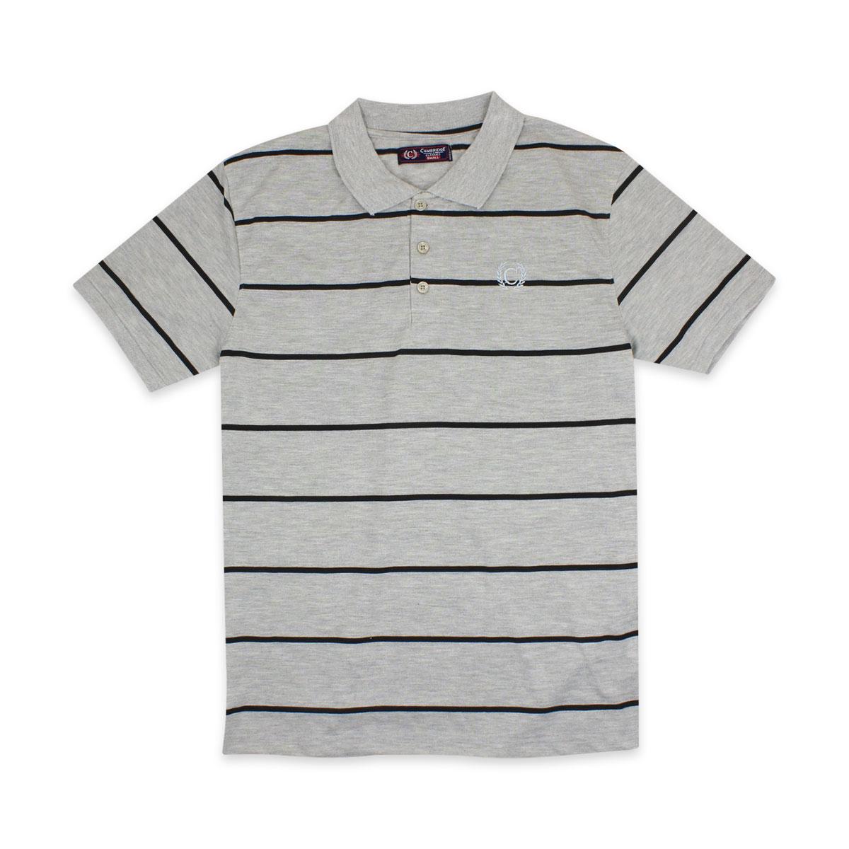 Camisas-Polo-Para-Hombre-A-Rayas-Pique-Con-Cuello-camiseta-Camiseta-Manga-Corta-De-Verano-S-M-L-XL miniatura 55