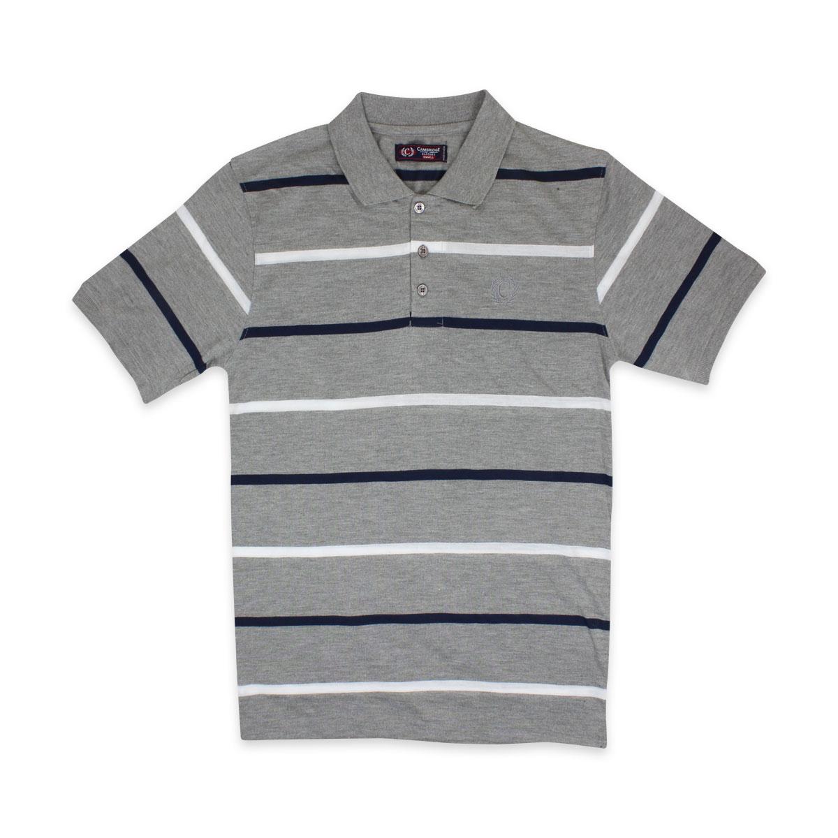 Camisas-Polo-Para-Hombre-A-Rayas-Pique-Con-Cuello-camiseta-Camiseta-Manga-Corta-De-Verano-S-M-L-XL miniatura 40