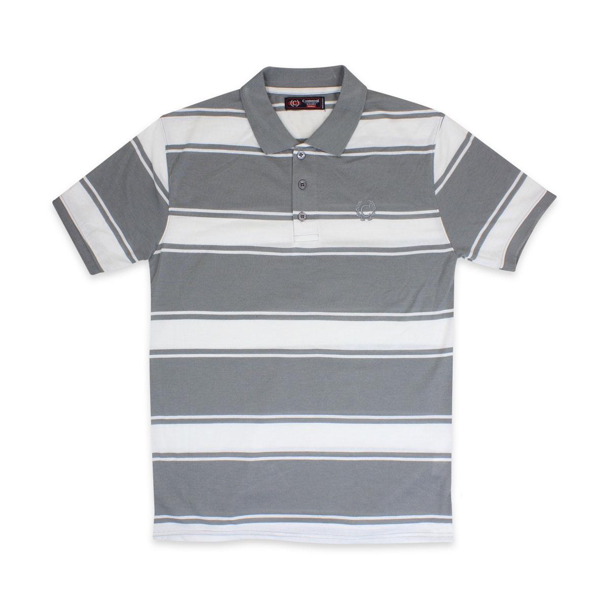 Camisas-Polo-Para-Hombre-A-Rayas-Pique-Con-Cuello-camiseta-Camiseta-Manga-Corta-De-Verano-S-M-L-XL miniatura 59