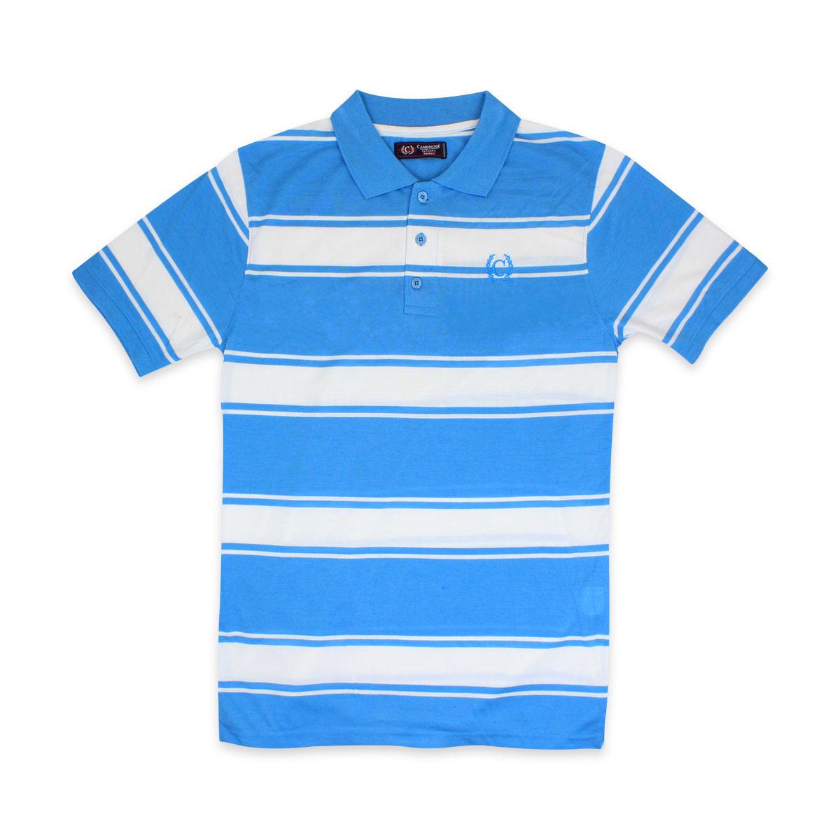 Camisas-Polo-Para-Hombre-A-Rayas-Pique-Con-Cuello-camiseta-Camiseta-Manga-Corta-De-Verano-S-M-L-XL miniatura 26