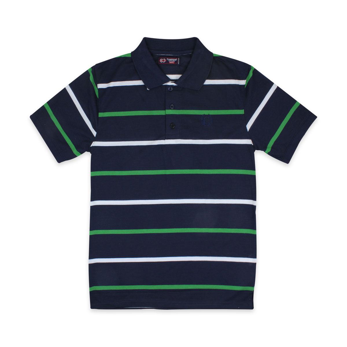 Camisas-Polo-Para-Hombre-A-Rayas-Pique-Con-Cuello-camiseta-Camiseta-Manga-Corta-De-Verano-S-M-L-XL miniatura 66