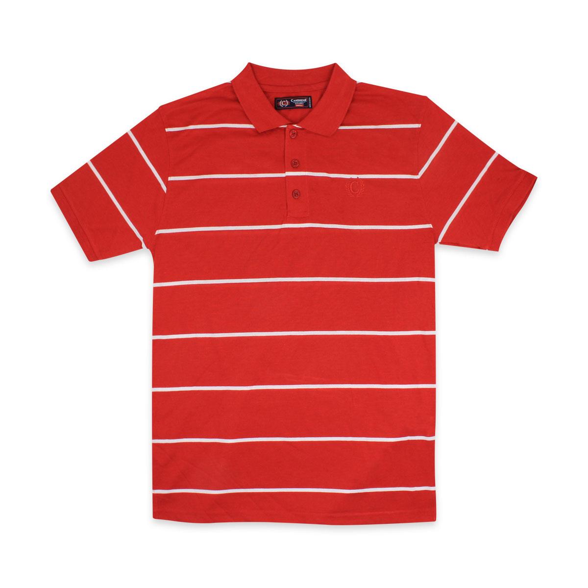 Camisas-Polo-Para-Hombre-A-Rayas-Pique-Con-Cuello-camiseta-Camiseta-Manga-Corta-De-Verano-S-M-L-XL miniatura 31