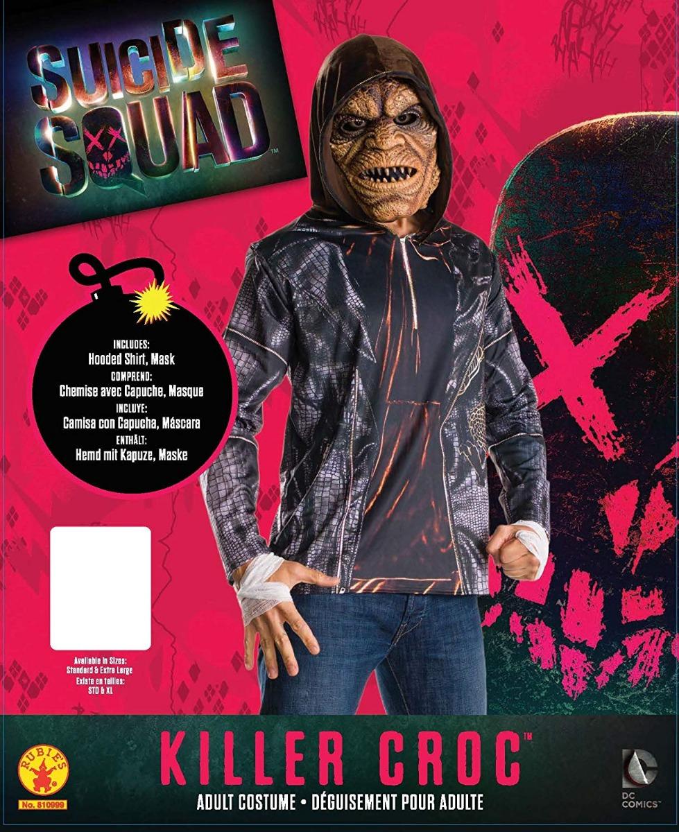 mens killer croc halloween costume fancy dress kit official suicide