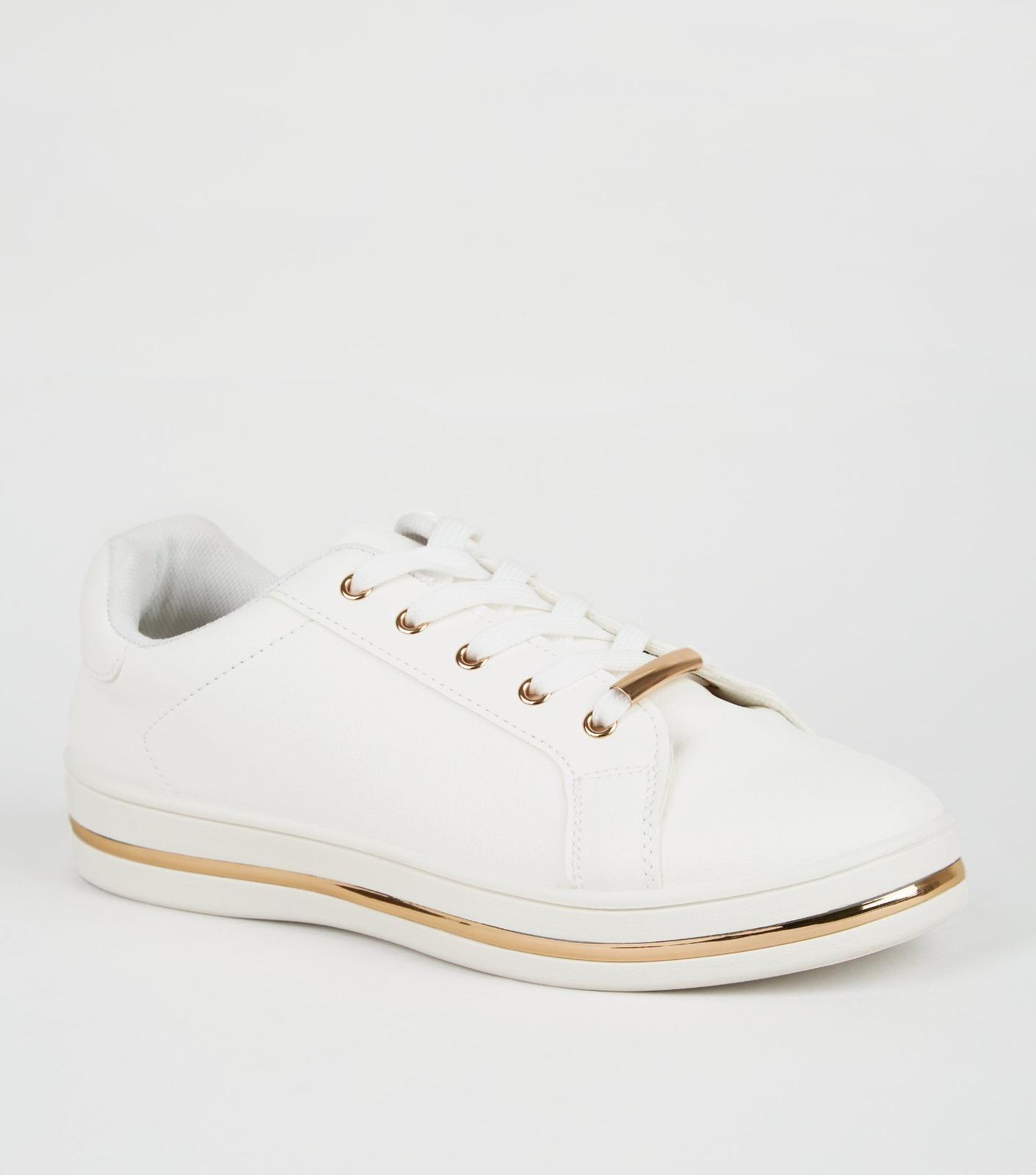 EX STORE Ladies Womens White Leather