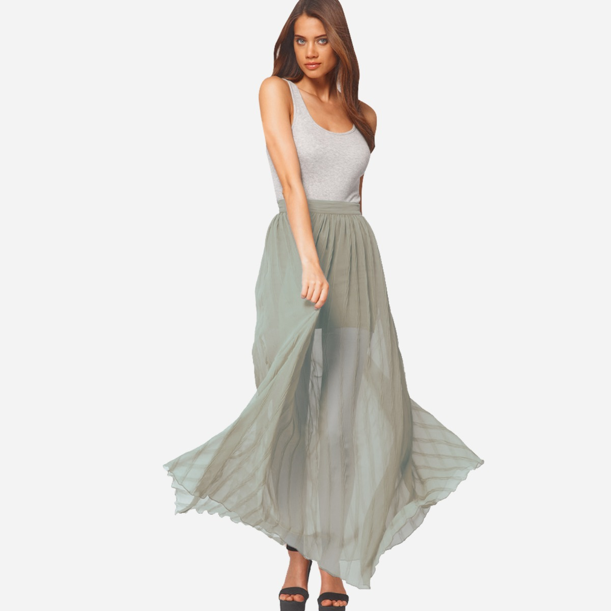 2019 hot sale pretty nice great prices Details about ASOS Ladies Womens Pleated Maxi Skirt Full Length Elasticated  Waist Size UK 8-18