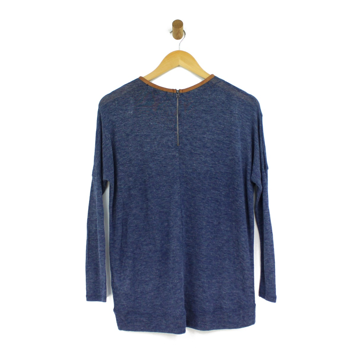 Womens-Thin-Jumpers-Sweater-Knitted-Long-Sleeve-Black-Navy-Size-6-8-10-12-14-20