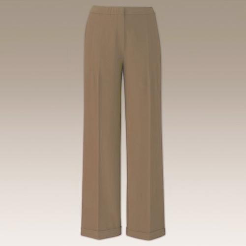 ***ladies women side elastic camel trouser size 12***